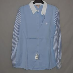 Brooks Brothers red fleece lined shirt